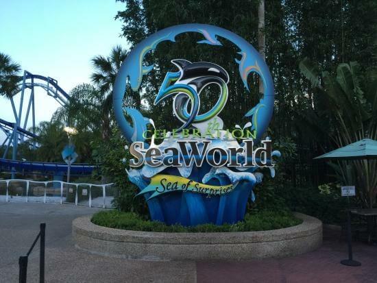 seaworld orlando 50 years sign