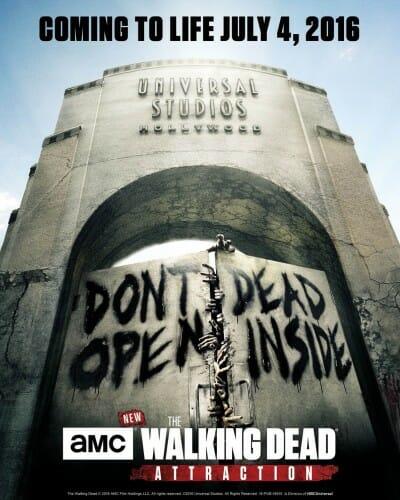 walking dead universal hollywood debut