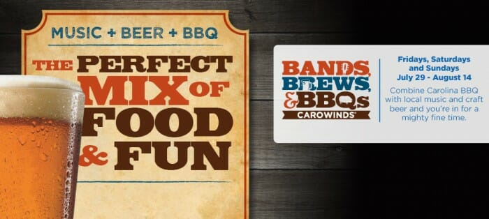 Bands Brews BBQ at Carowinds
