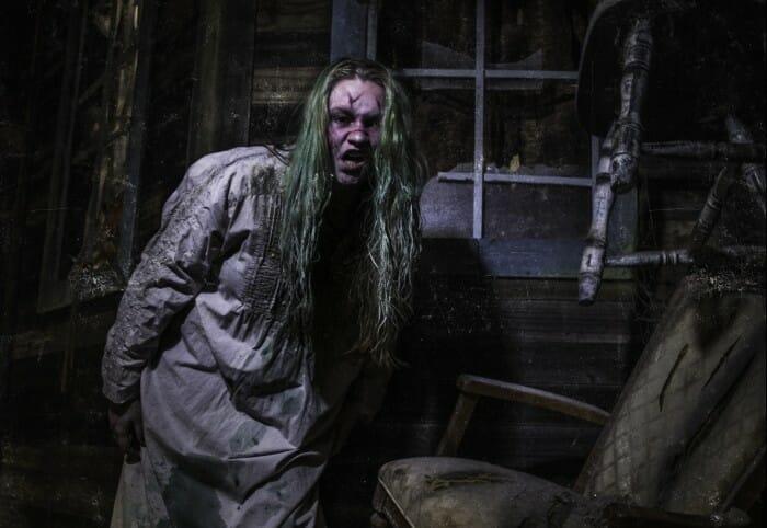dar hour haunted house scary girl