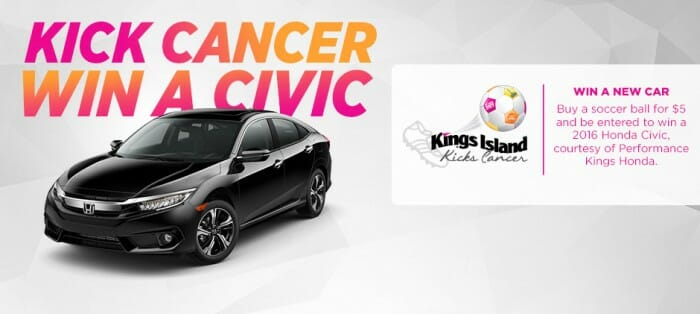 kings island kicks cancer car image