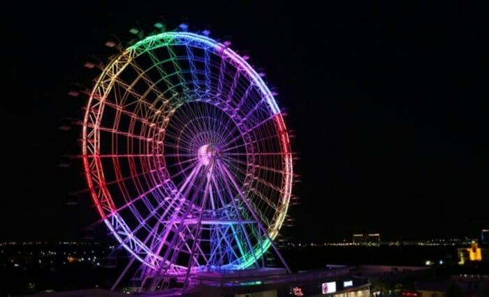 orlando eye rainbow colors