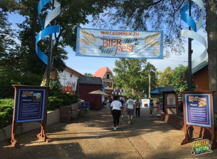 busch gardens bier fest banner