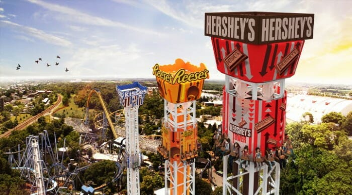 "Hersheypark Announces ""Choose-Your-Thrill"" Triple Tower for 2017"