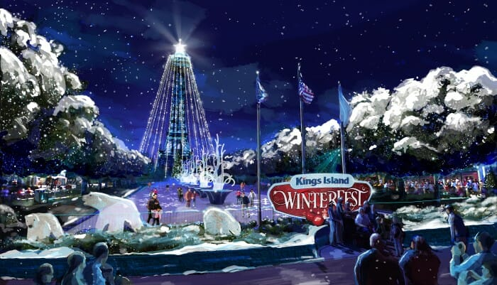 kings island WinterFest Rendering