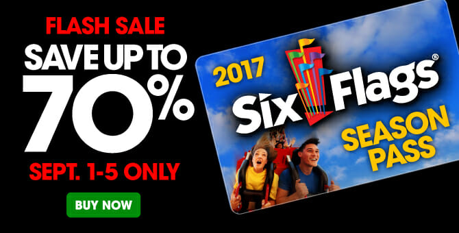 six flags flash sale 2017