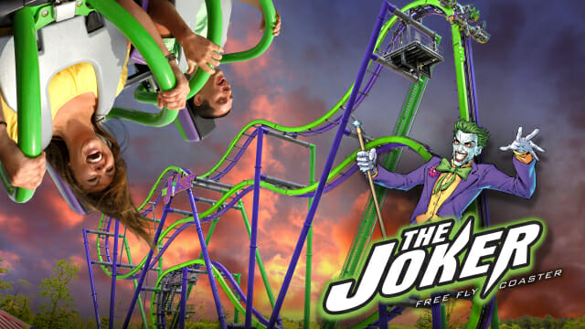six flags great america the joker coaster
