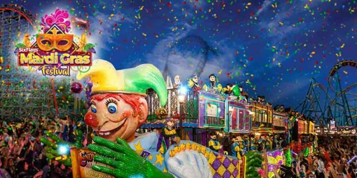 six flags mardi gras
