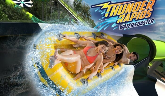 six flags thunder rapids water coaster