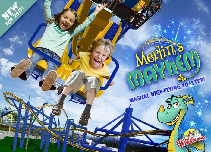 Dutch Wonderland Reveals Merlin's Mayhem Coaster Train