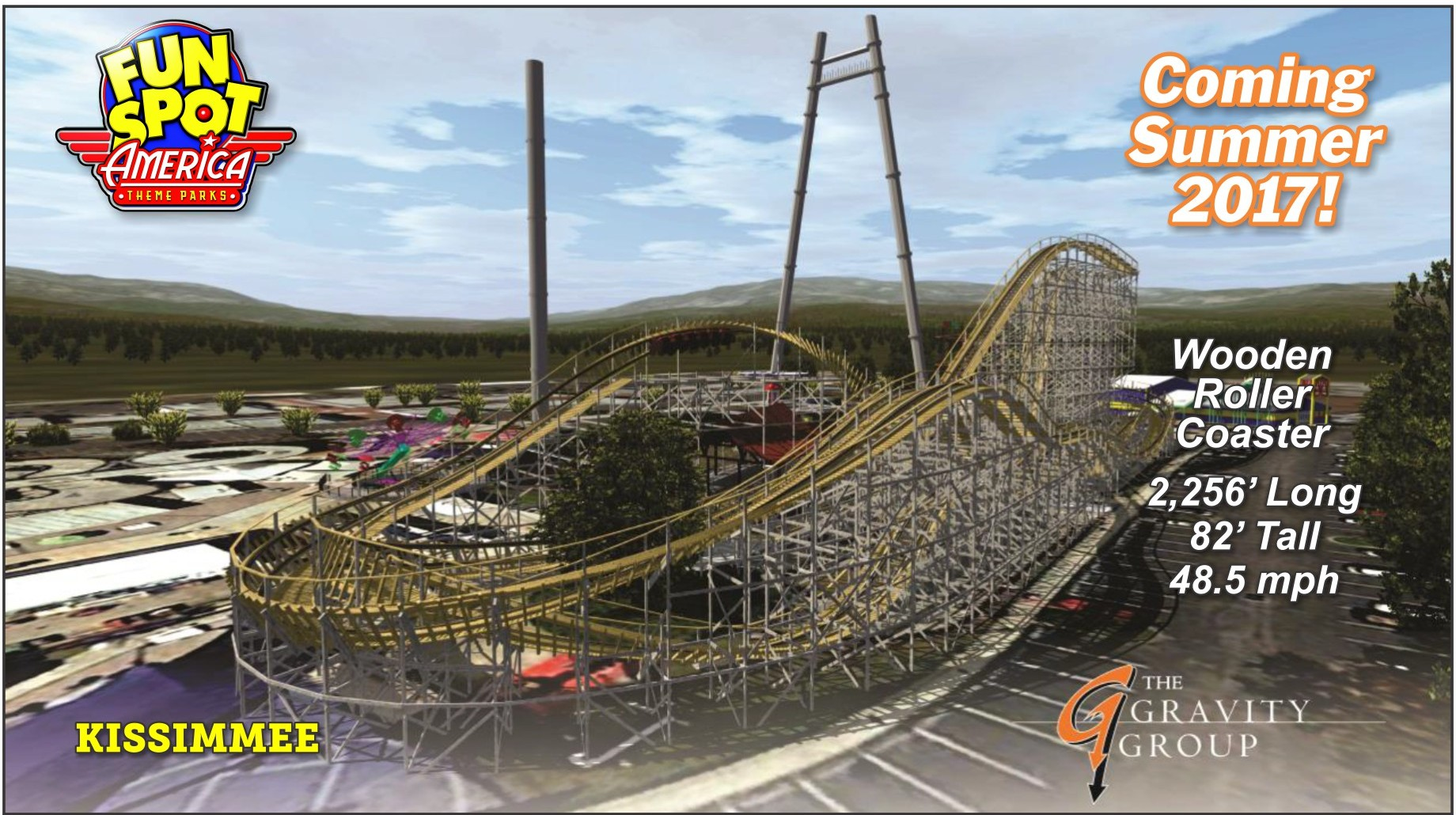 Fun Spot America Adding New Wooden Roller Coaster For Summer 2017 ...