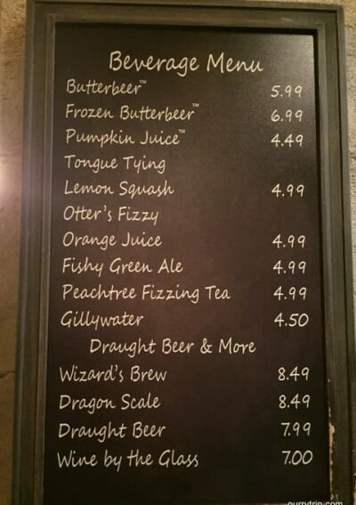 butterbeer prices 2016