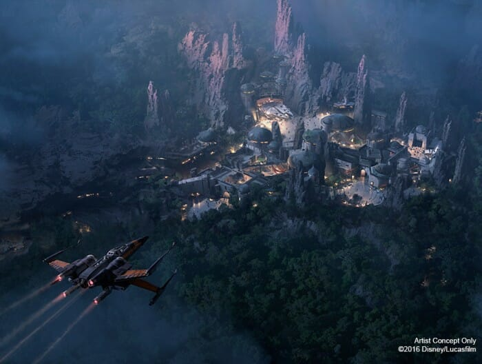 disney star wars land aerial