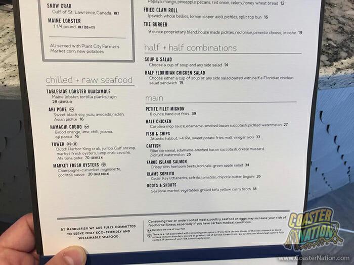 paddlefish disney springs menu 4
