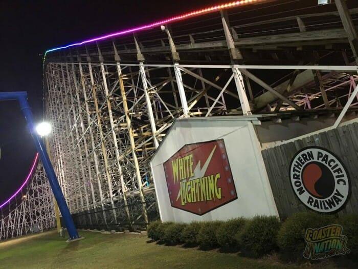 white lightning roller coaster fun spot