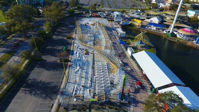New Construction Photos From Mine Blower At Fun Spot America