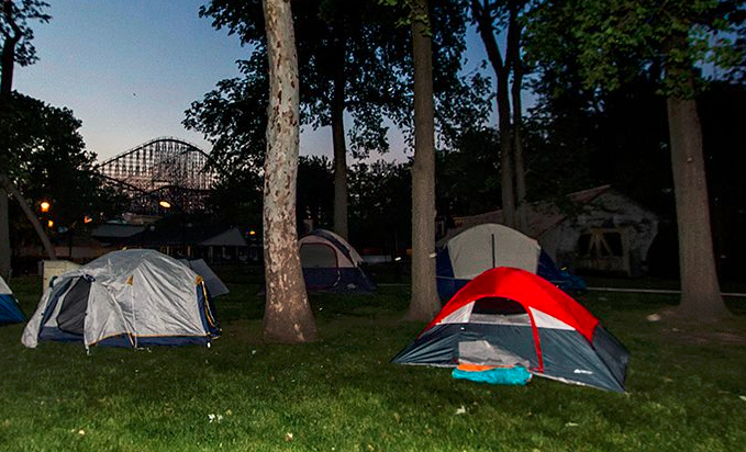 cedar point coaster campout tents