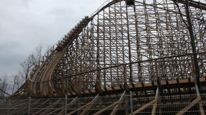 New Mystic Timbers Roller Coaster At Kings Island Completes First Test Run