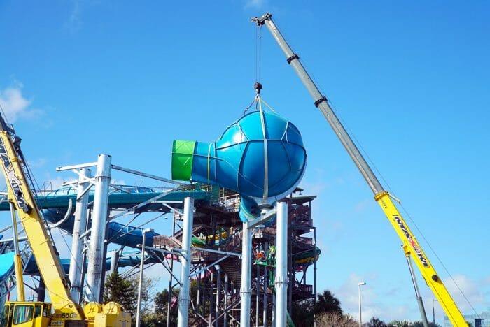 Ray Rush Construction Update At Aquatica Orlando