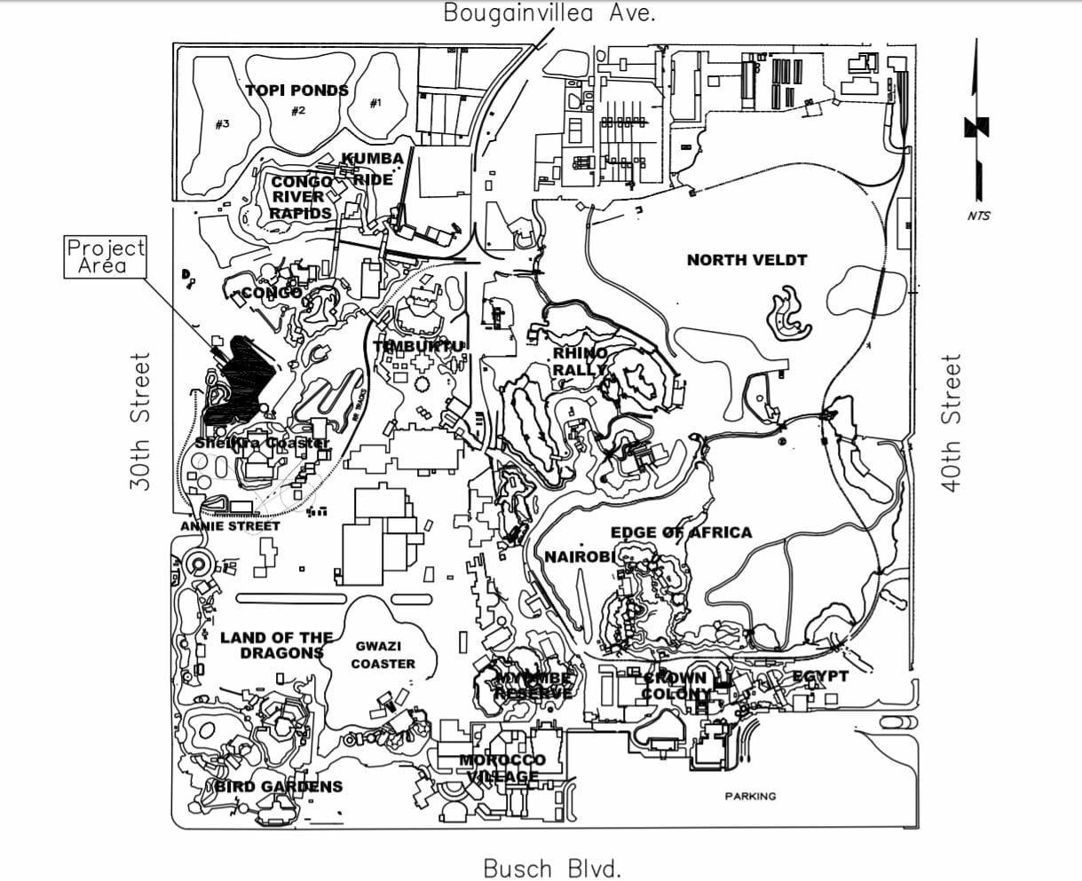 Busch Gardens Tampa Florida Map.Project Teel Documents Reveal New Coaster Coming To Busch Gardens