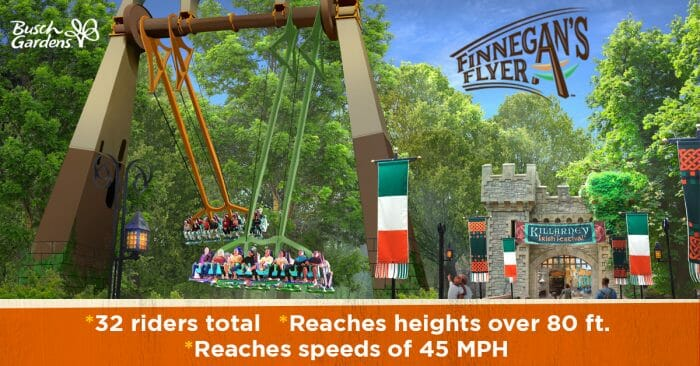 Busch Gardens and Water Country USA To Debut Exhilarating New Attractions In 2019