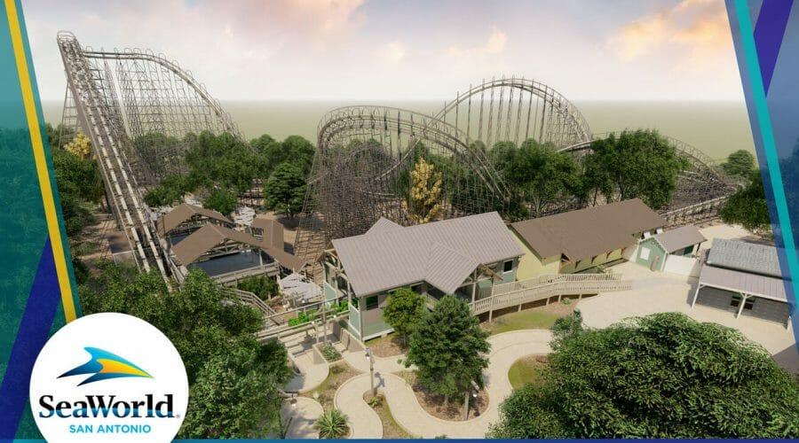 SeaWorld San Antonio Reveals Plans For Record Breaking Texas Stingray Wooden Roller Coaster