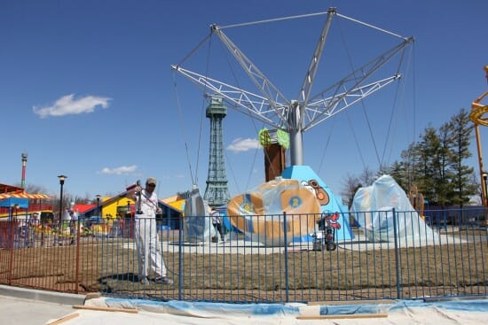 Workers Add Finishing Touches On New Rides At Kings Island