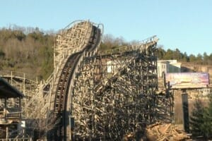 The Ozark Wildcat Roller Coaster Demolition – Celebration City Branson Missouri