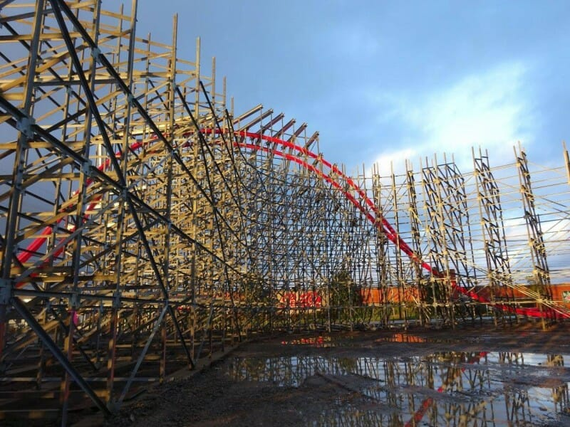 Construction Update: Storm Chaser Roller Coaster at Kentucky Kingdom