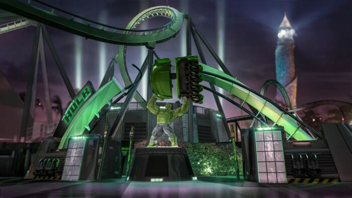 Incredible Hulk Coaster Ride Vehicles and Immersive Queue Revealed For Re-Launch