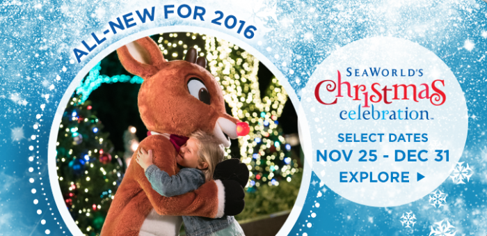 Celebrate Christmas at SeaWorld Orlando with Rudolph