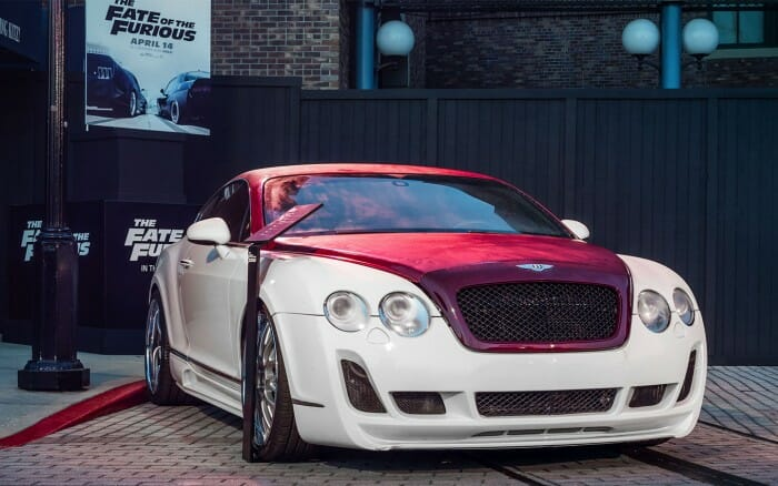 F8 Fast and the Furious Cars On Display At Universal Studios Orlando