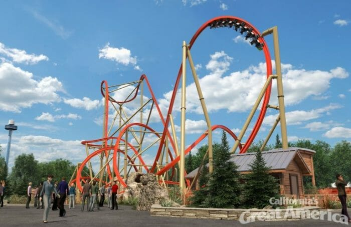 RailBlazer Roller Coaster Announced at CA Great America for 2018