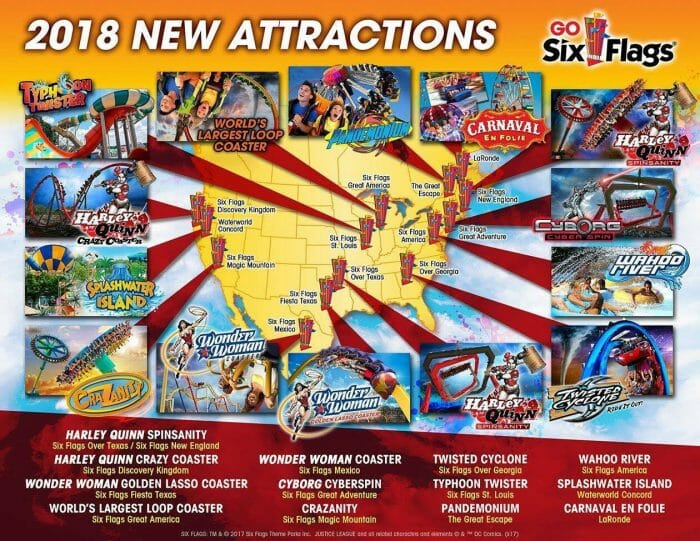 Six Flags Announces New Attractions For 2018 – Coaster Nation
